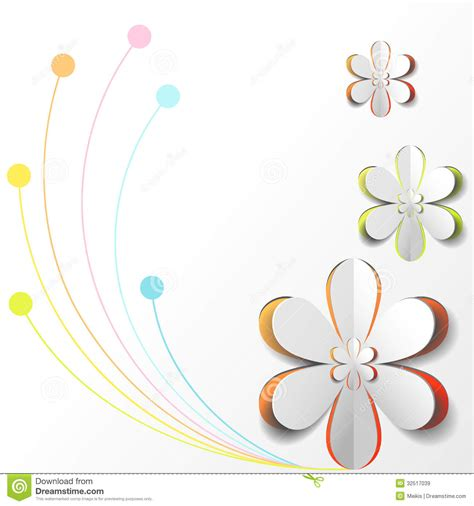 How To Make Design Paper - white paper flower on colorful background royalty free