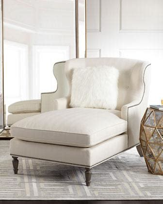 wingback chaise bernhardt hyland off white wingback chaise