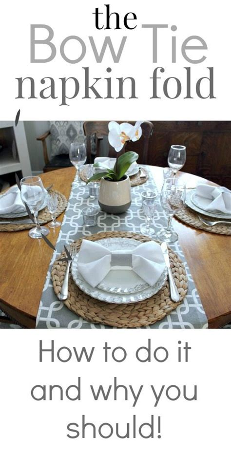 Do You Fold Your Underthings by How To Do The Bow Tie Napkin Fold The Creek Line House