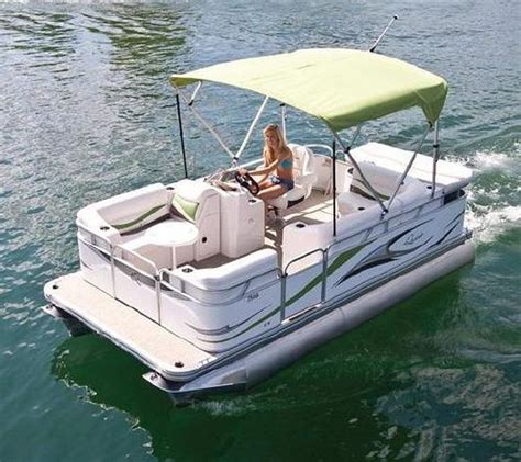 small boat pontoons 7516 c small electric pontoon boat flickr photo