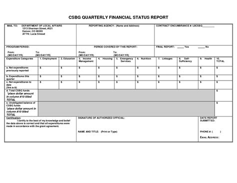 quarterly financial report template best photos of quarterly financial reports quarterly