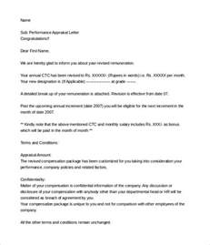 Performance Agreement Letter Exle 9 Sle Letter Of Appraisals Sle Templates 28 Images Image Gallery Sle Appraisal Letter Sle