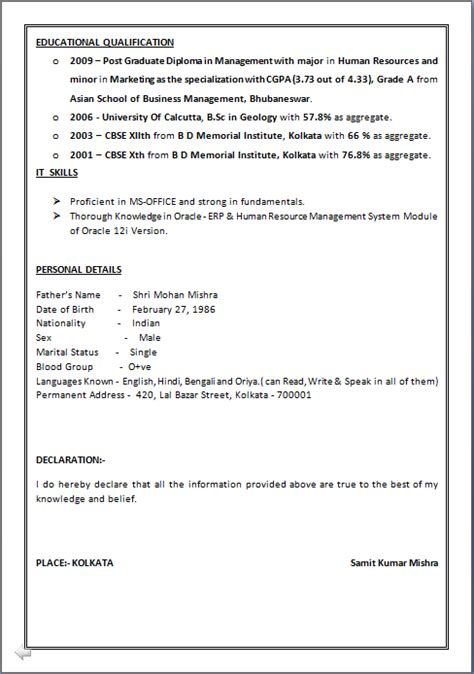 resume format for 4 years experience in hr resume co a beautyful resume sle in word doc
