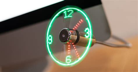 Usb Led Clock Fan usb led clock fan cool sh t you can buy find cool things to buy