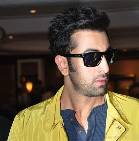 hair cut of ranbir kapur funky hairstyle of ranbir kapoor