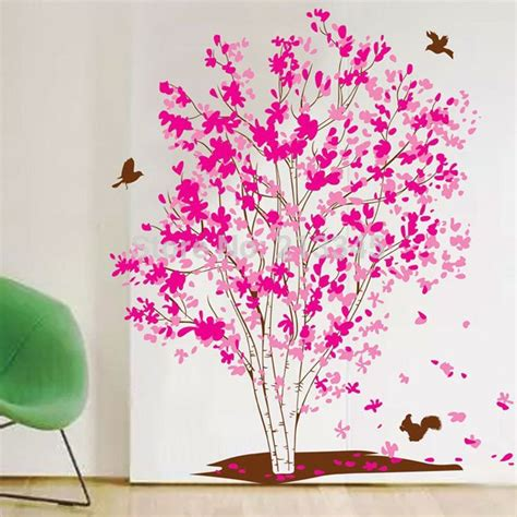 Wall Sticker 60x90 Wall Stiker Transparan Ay9097 Flower jual beli pink tree nok002 60x90 wall