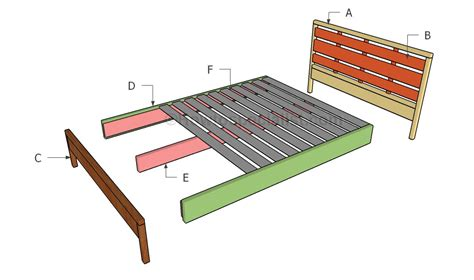 queen platform bed plans howtospecialist how to build step by step diy plans