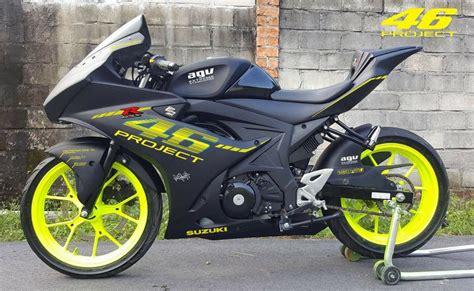 modifikasi motor suzuki modifikasi suzuki gsx r150 ala moto3