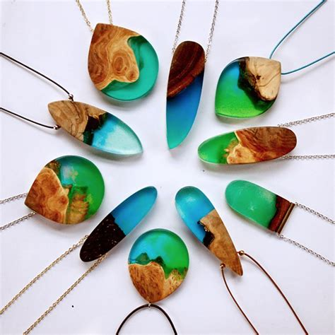 jewelry resin artist turns wood into unique jewelry by using its