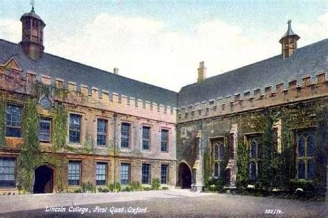 oxford lincoln college lincoln college oxford uk vintage postcards