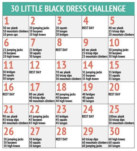 weight loss challenge for beginners april fitness challenge black dress challenge