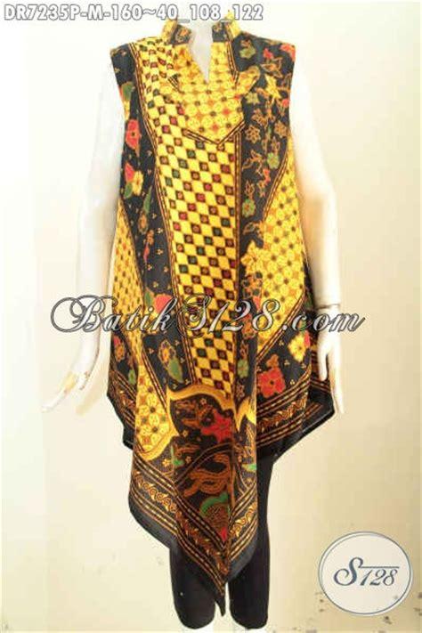 desain baju batik wanita untuk pesta baju dress modern tanpa lengan desain a simetris busana