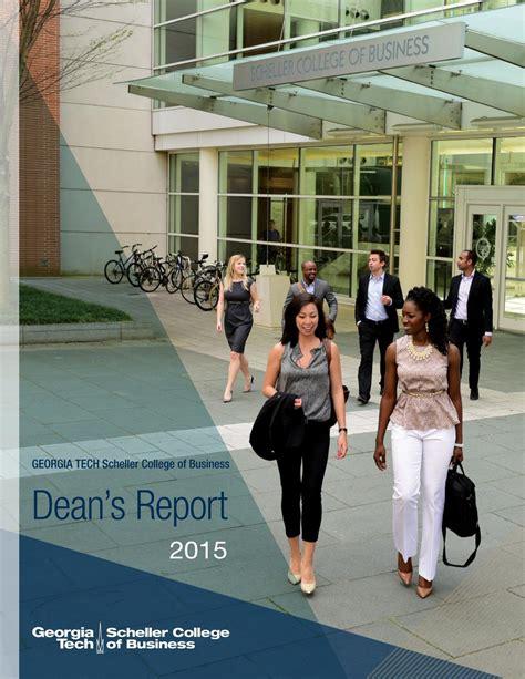 Scheller Mba Essays by 2015 Tech Scheller College Of Business Dean S
