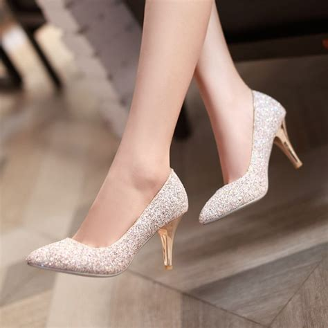 Flat Shoes Cantik List Gold Cf Sepatu Murah aliexpress popular gold bridesmaid shoes in shoes