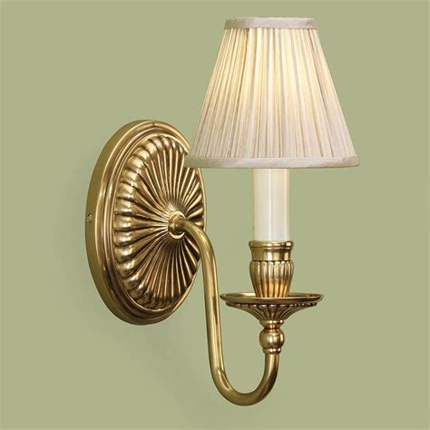 traditional brass wall lights fitzroy solid brass wall light beige shade traditional