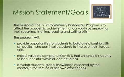 mission statement goals and objectives ppt welcome to the powerpoint presentation id 3147709