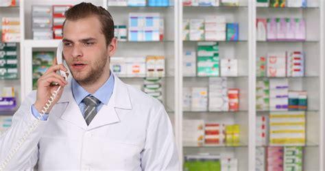 Call Pharmacy by Stock Of Landline Phone Call Conversation Pharmacist