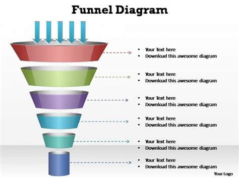 powerpoint funnel diagram rate powerpoint templates slides and graphics