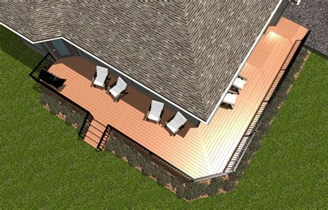 wrap around deck plans there are two sides to this timbertech deck fort