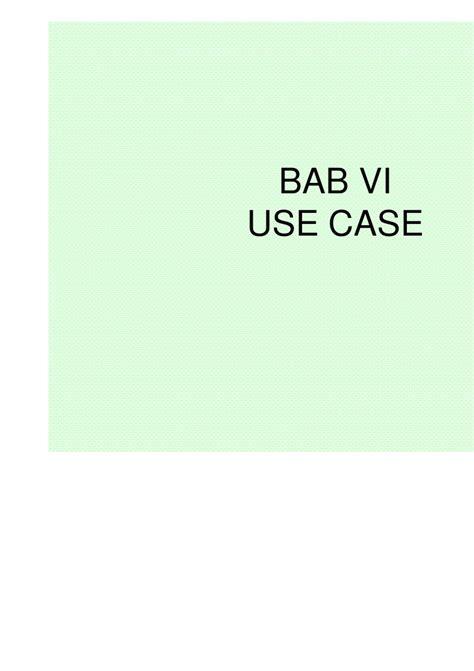 panduan membuat use case diagram bab 6 use case diagram 2010