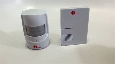 doorbell chime sensor 1byone driveway alert doorbell easy chime wireless pir