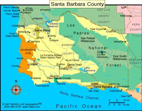 santa barbara map map of sb county maps santa barbara california santa barbara and california