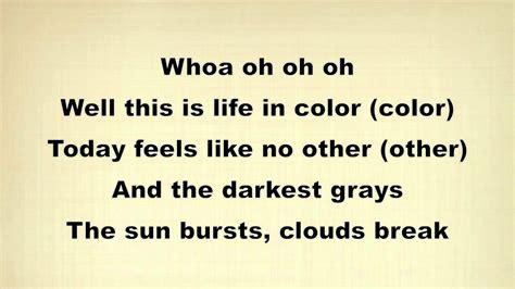 Outline In Color Lifer Lyrics by Onerepublic In Color Lyrics