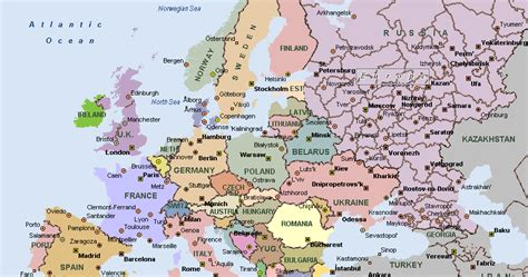 a map of cities map of europe cities pictures europe cities map pictures