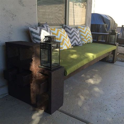 cinder block couch best 25 outdoor seating bench ideas on pinterest