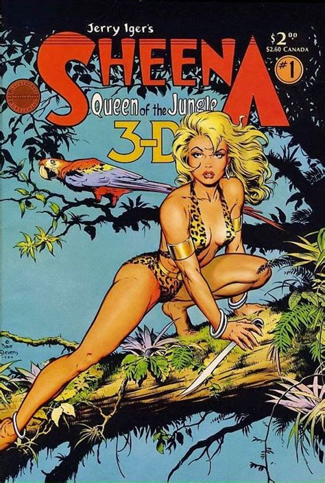 by dave stevens golden age comic book stories dave stevens cover for sheena queen of the jungle 3 d