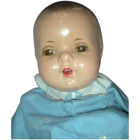 large composition doll vintage large composition molded hair baby doll 24 inches