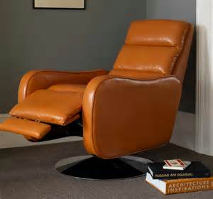 furniture ikea leather recliner with orange color design