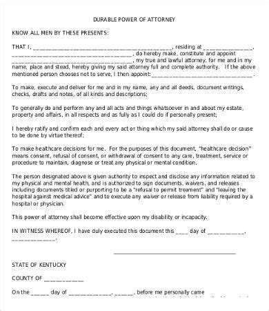 poa template free power of attorney form free printable