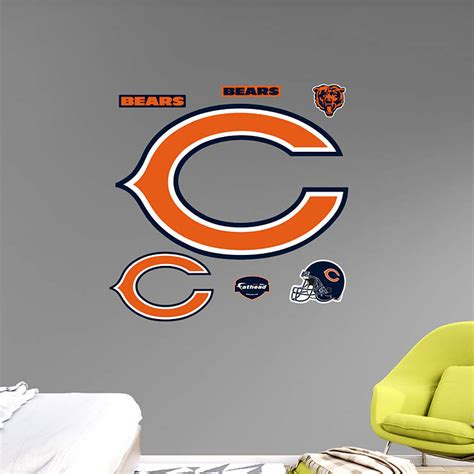 chicago bears wall stickers chicago bears quot c quot logo wall decal shop fathead 174 for