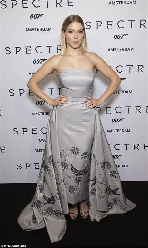 lea seydoux spectre white dress lea seydoux silver strapless formal dress spectre s