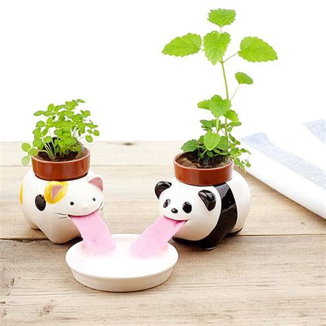 small self watering pots self watering pots look like animals