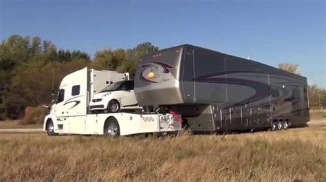 rv hauler jackknifes  smart car   foot  wheel youtube