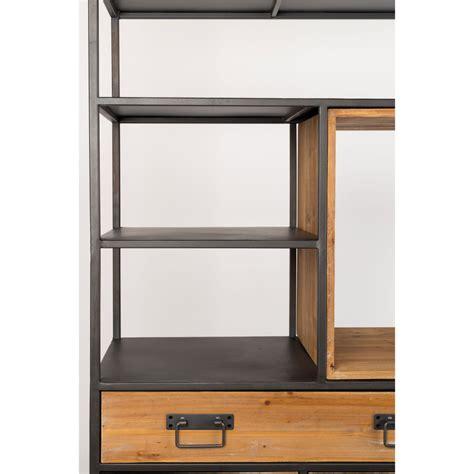 etagere metal etag 232 re en m 233 tal et bois samuel drawer