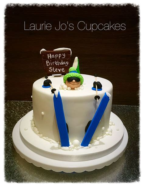 themed birthday cakes durban skiing cake bday pinterest skiing and cakes