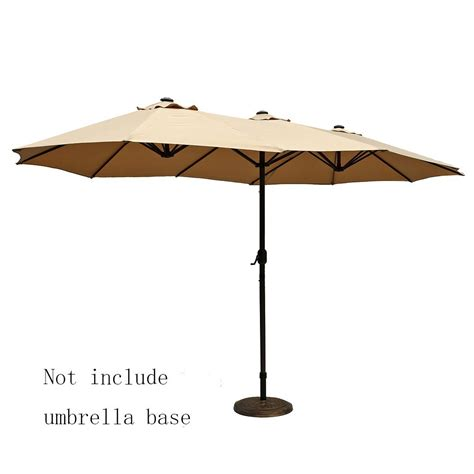 What Size Patio Umbrella Should I Get Le Papillon 14 Ft Market Outdoor Umbrella Sided Aluminum Table Patio Umbrella With Crank