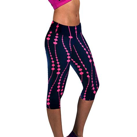Legging Sport 3 4 3d print plus size capris sport fitness outdoor clothes in