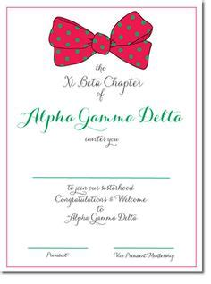 bid day card sorority recruitment template sorority invitations could be used for or bid