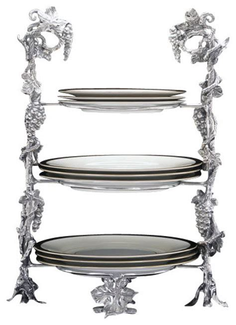grape buffet plate caddy traditional serveware by