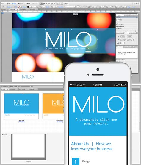 milo template milo adobe muse website template on behance