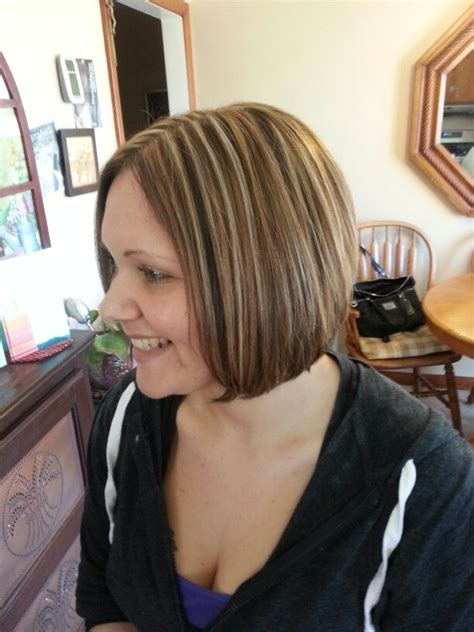 pictures of bob haircuts with blonde foil on brown hair hair style with foils hairstyle gallery