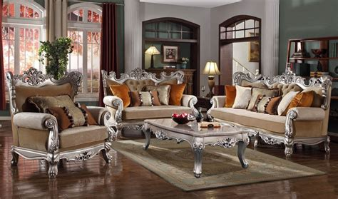 Silver Living Room Furniture Micado Silver Classic Living Room Furniture