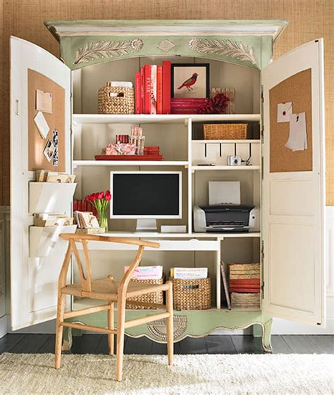 Armoire Office by Home Office Ideas Conceal It In An Armoire