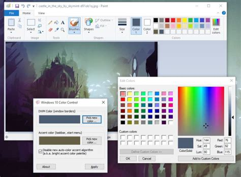 theme windows 10 color create a color theme for any background in windows 10