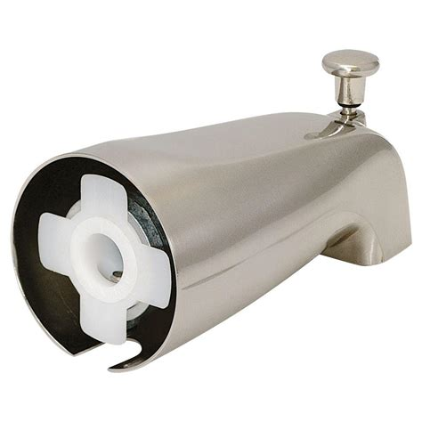 bathtub faucet spout ez flo slide on diverter spout brushed nickel 15088 the