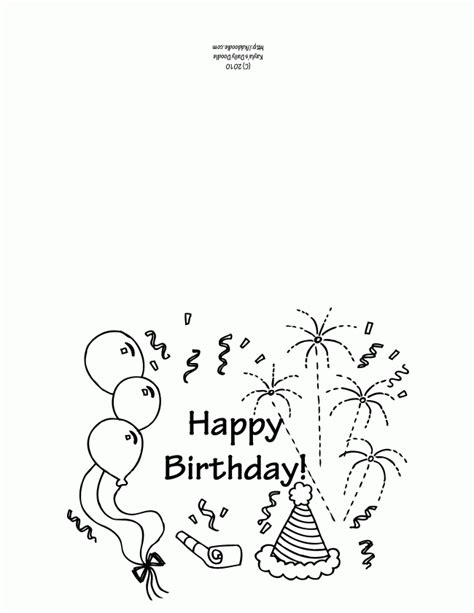 Birthday Card Coloring Pages Coloring Home Card Templates To Color